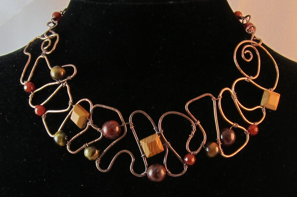 jewelry burntskydesigns and making wire best necklace jewellery choker chokers wrap wired on pinterest collars art images