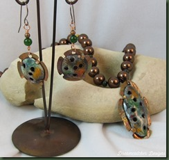 enamel and earrings